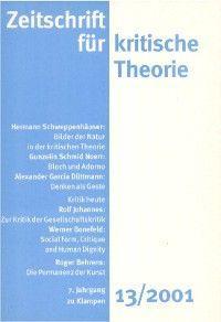 Zeitschrift für kritische Theorie / Zeitschrift für kritische Theorie, Heft 13