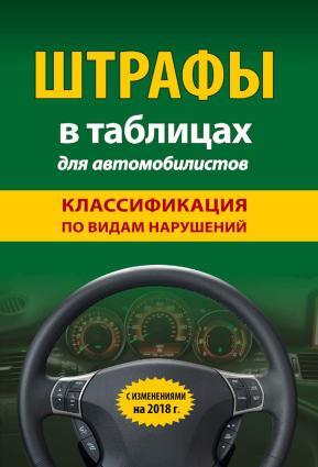 Штрафы в таблицах для автомобилистов с изменениями на 2018 год. Классификация по видам нарушений Foto №1