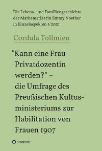 """""""Kann eine Frau Privatdozentin werden?"""" - die Umfrage des Preußischen Kultusministeriums zur Habilitation von Frauen 1907 Foto №1"""