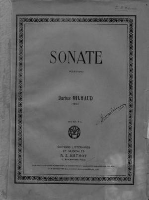 Sonate pour Piano Foto №1