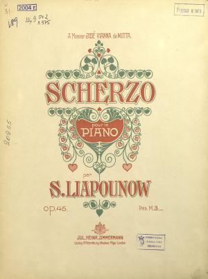 Scherzo pour le piano par S. Liapunow Foto №1