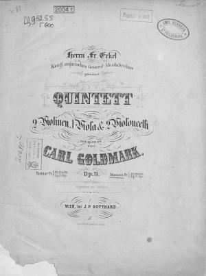 Quintett fur 2 Violinen, 1 Viola & 2 Violoncelli Foto №1