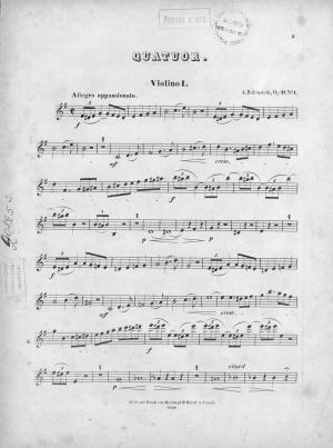 Trois quatuors pour 2 Violons, Alto et Violoncelle comp. par Ant. Rubinstein Foto №1