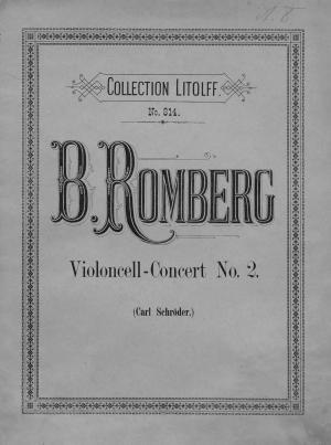 Concert № 2 fur Violoncell mit Pianoforte-Begleitung von B. Romberg Foto №1