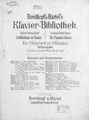 Erstes Konzert A-moll fur das Pianoforte mit Begleitung des Orchesters Foto №1