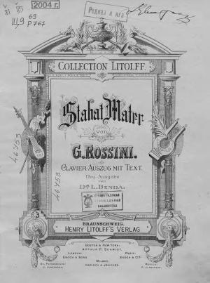 Stabat Mater von G. Rossini Foto №1