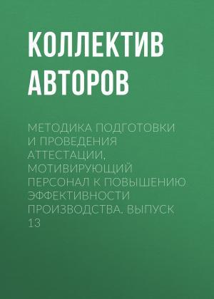 Методика подготовки и проведения аттестации, мотивирующий персонал к повышению эффективности производства. Выпуск 13 photo №1
