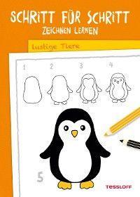 Schritt für Schritt Zeichnen lernen. Lustige Tiere Foto №1