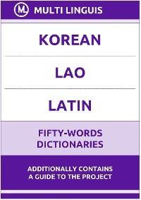 Korean' Lao' Latin Fifty-Words Dictionaries photo №1