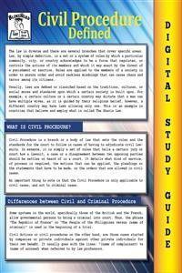 Civil Procedure (Blokehead Easy Study Guide) photo №1