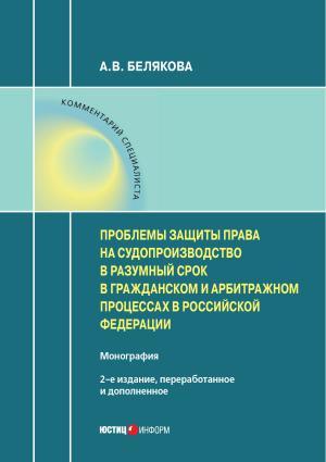 Проблемы защиты права на судопроизводство в разумный срок в гражданском и арбитражном процессах в Российской Федерации photo №1