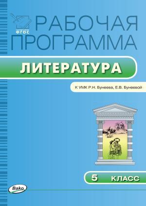 Рабочая программа по литературе. 5 класс photo №1
