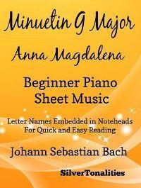 Menuet in G Major Bwv 116 Anna Magdalena Beginner Piano Sheet Music photo №1
