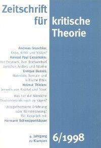 Zeitschrift für kritische Theorie / Zeitschrift für kritische Theorie, Heft 6
