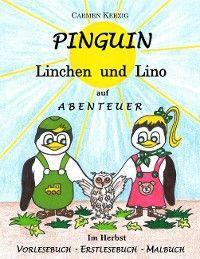 Pinguin Linchen und Lino auf Abenteuer im Herbst Foto №1