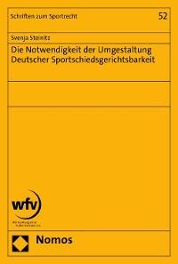 Die Notwendigkeit der Umgestaltung Deutscher Sportschiedsgerichtsbarkeit Foto №1