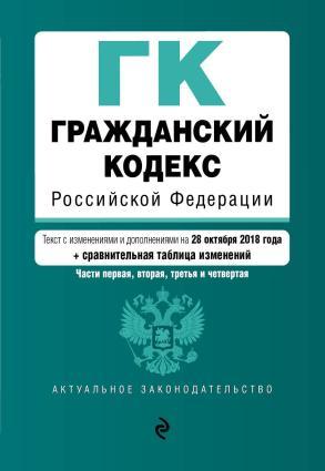Гражданский кодекс Российской Федерации. Части первая, вторая, третья и четвертая. Текст с изменениями и дополнениям