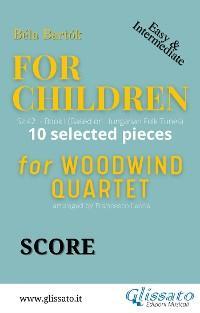 """Score """"For Children"""" by Bartók - Woodwind Quartet photo №1"""