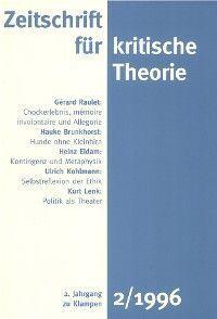 Zeitschrift für kritische Theorie / Zeitschrift für kritische Theorie, Heft 2