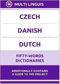 Czech' Danish' Dutch Fifty-Words Dictionaries photo №1