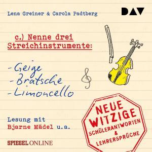 """""""Nenne drei Streichinstrumente: Geige, Bratsche, Limoncello"""" Foto №1"""