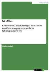 Kriterien und Anforderungen zum Einsatz von Computerprogrammen beim Schriftspracherwerb Foto №1