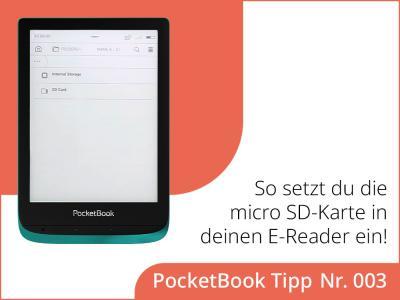 Wie setzt du die microSD-Karte in deinen E-Reader ein?