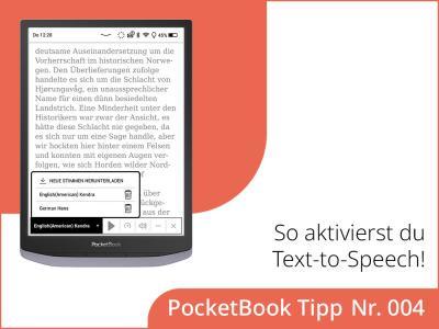 Wie kannst du die Text-to-Speech-Funktion in deinem E-Reader aktivieren?