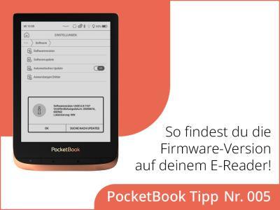 Wie findest du die aktuelle Firmware-Version auf deinem E-Reader?