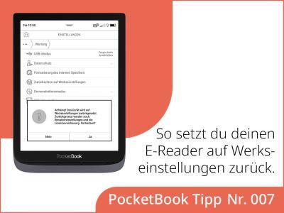 Wie kannst du deinen E-Reader auf Werkseinstellungen zurücksetzen?