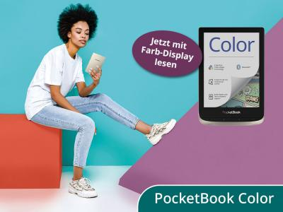 Entdecke jetzt den neuen E-Reader mit Farb-Display