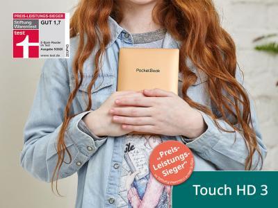 PocketBook Touch HD 3 ist Preis-Leistungs-Sieger der Stiftung Warentest